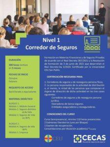 CURSO – NIVEL 1 – CORREDOR DE SEGUROS